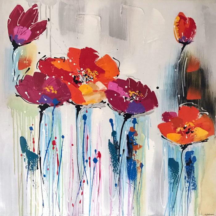 Sommerblomster maleri